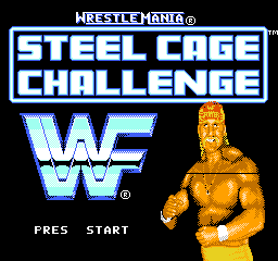 【Title】WWF疯狂摔角-铁笼挑战赛(西译版)_WWF WrestleMania - Steel Cage Challenge (U) [T+Spa_PaladinKnights].png