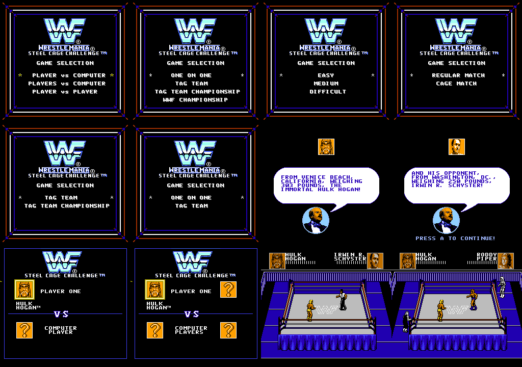 WWF疯狂摔角-铁笼挑战赛_WWF WrestleMania - Steel Cage Challenge_2.png
